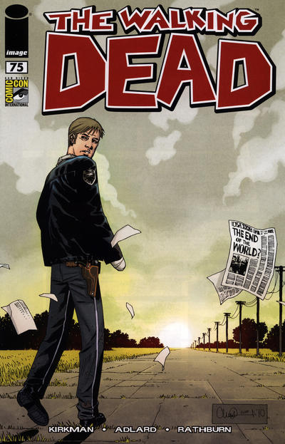 Cover for The Walking Dead (Image, 2003 series) #75 [Charlie Adlard Variant Cover]