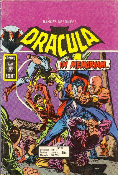 Cover for Dracula (Arédit-Artima, 1974 series) #20