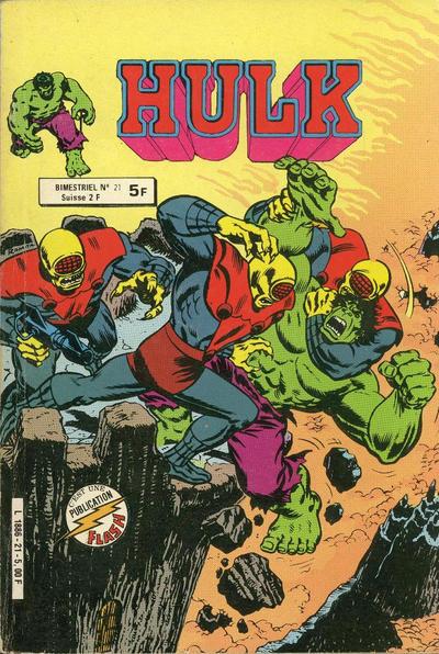 Cover for Hulk (Arédit-Artima, 1976 series) #21