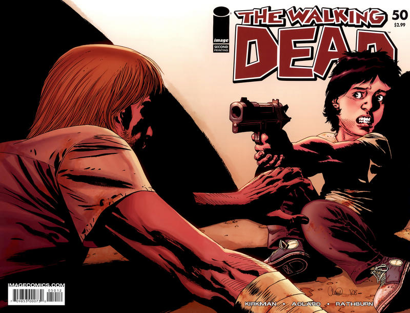 Cover for The Walking Dead (Image, 2003 series) #50 [Second Printing]
