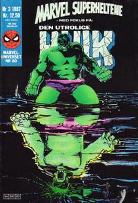 Cover Thumbnail for Marvel Superheltene (Semic, 1987 series) #3/1987