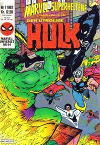 Cover Thumbnail for Marvel Superheltene (Semic, 1987 series) #7/1987