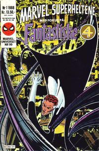 Cover Thumbnail for Marvel Superheltene (Semic, 1987 series) #1/1988
