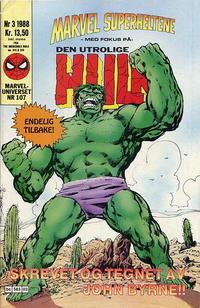 Cover Thumbnail for Marvel Superheltene (Semic, 1987 series) #3/1988
