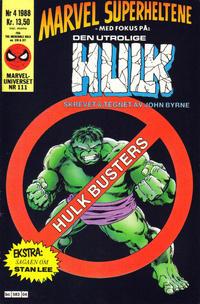 Cover Thumbnail for Marvel Superheltene (Semic, 1987 series) #4/1988