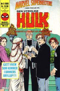 Cover Thumbnail for Marvel Superheltene (Semic, 1987 series) #5/1988