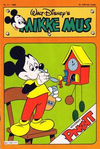 Cover Thumbnail for Mikke Mus (Hjemmet / Egmont, 1980 series) #11/1980