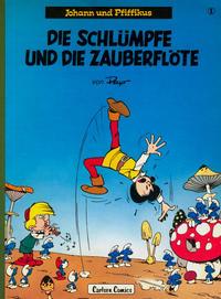 Cover Thumbnail for Johann und Pfiffikus (Carlsen Comics [DE], 1979 series) #1 - Die Schlümpfe und die Zauberflöte