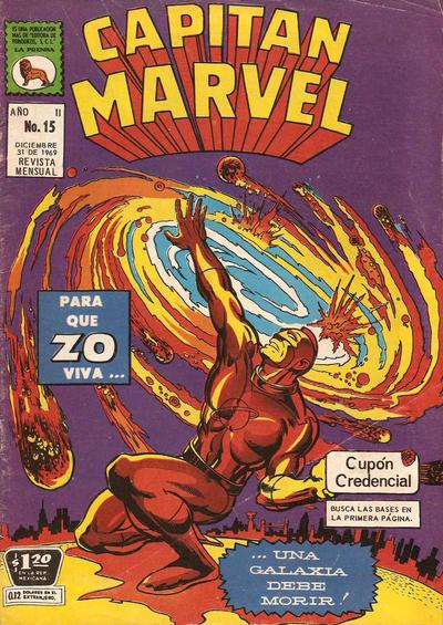 Cover for Capitán Marvel (Editora de Periódicos La Prensa S.C.L., 1968 series) #15