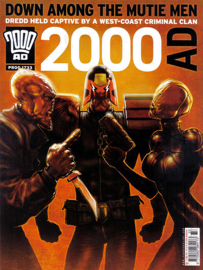 Cover for 2000 AD (Rebellion, 2001 series) #1733