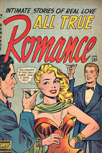 Cover for All True Romance (Comic Media, 1951 series) #9
