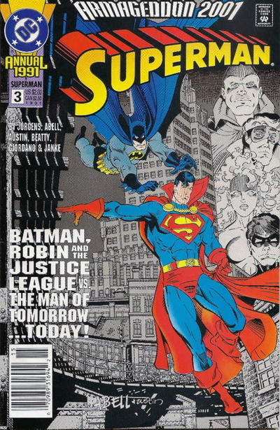 Cover for Superman Annual (DC, 1987 series) #3 [3rd Printing - Silver Series]