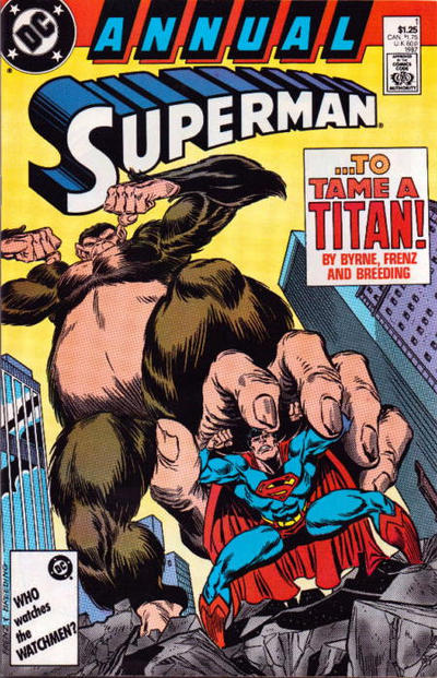 Cover for Superman Annual (DC, 1987 series) #1 [Newsstand]