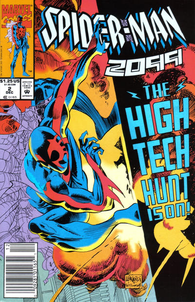 Cover for Spider-Man 2099 (Marvel, 1992 series) #2 [Newsstand]