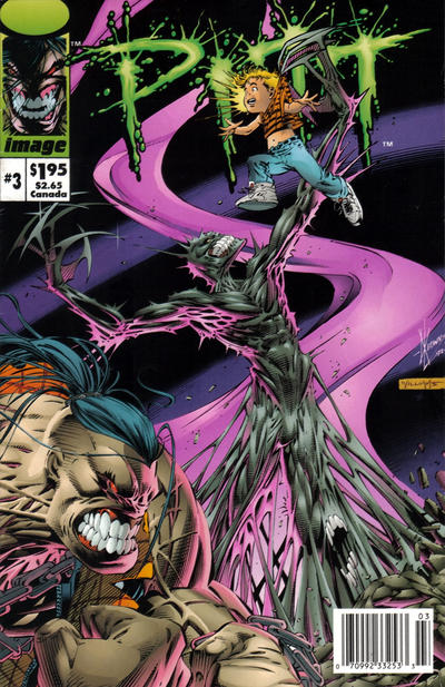 Cover for Pitt (Image, 1993 series) #3 [Newsstand Edition]