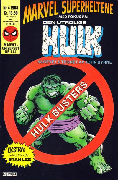 Cover for Marvel Superheltene (Semic, 1987 series) #4/1988