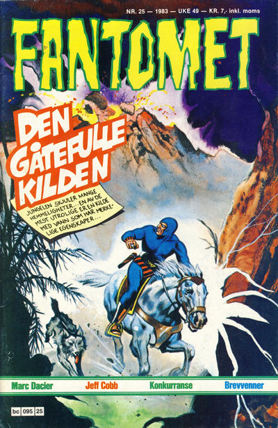 Cover for Fantomet (Semic, 1976 series) #25/1983