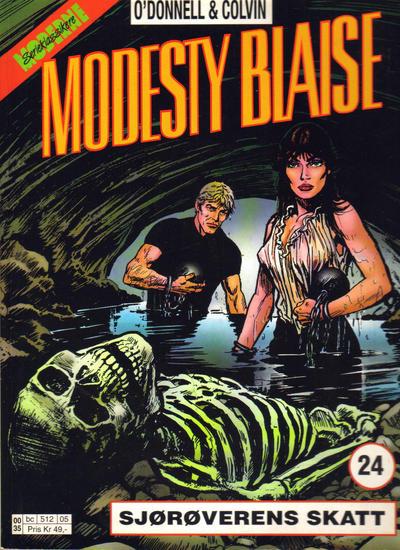 Cover for Modesty Blaise (Hjemmet / Egmont, 1998 series) #24 - Sjørøverens skatt [Reutsendelse bc 382 13]