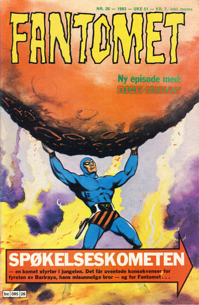 Cover for Fantomet (Semic, 1976 series) #26/1983