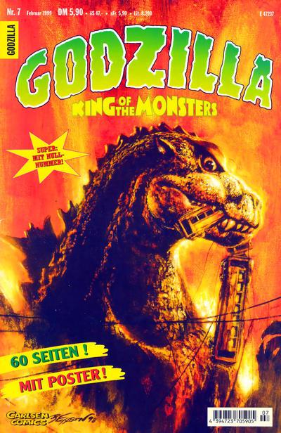 Cover for Godzilla (Carlsen Comics [DE], 1998 series) #7