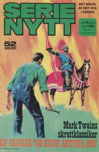 Cover Thumbnail for Serie-nytt [delas?] (Semic, 1970 series) #11/1972