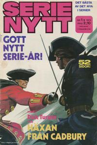 Cover Thumbnail for Serie-nytt [delas?] (Semic, 1970 series) #1/1974