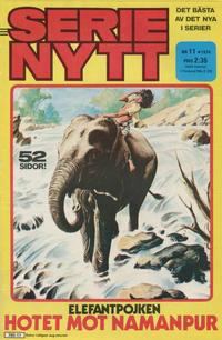 Cover Thumbnail for Serie-nytt [delas?] (Semic, 1970 series) #11/1974