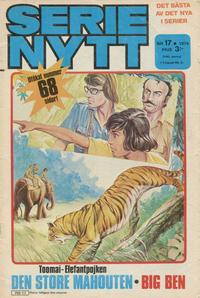 Cover Thumbnail for Serie-nytt [delas?] (Semic, 1970 series) #17/1974