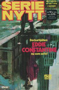 Cover for Serie-nytt [delas?] (Semic, 1970 series) #12/1975
