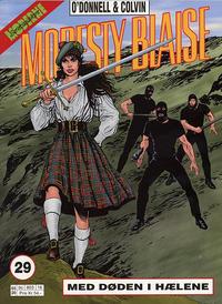 Cover Thumbnail for Modesty Blaise (Hjemmet / Egmont, 1998 series) #29 - Med døden i hælene