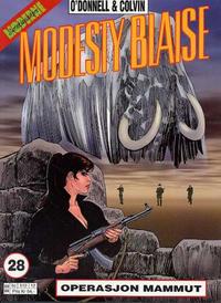 Cover Thumbnail for Modesty Blaise (Hjemmet / Egmont, 1998 series) #28 - Operasjon Mammut