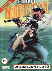 Cover Thumbnail for Modesty Blaise (Hjemmet / Egmont, 1998 series) #23 - Operasjon Pluto