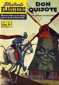 Cover Thumbnail for Illustrerte Klassikere [Classics Illustrated] (Illustrerte Klassikere / Williams Forlag, 1957 series) #104 - Don Quijote