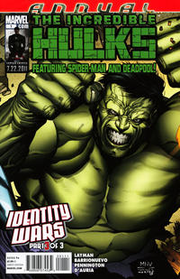 Cover Thumbnail for Incredible Hulks Annual (Marvel, 2011 series) #1
