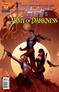 Cover Thumbnail for Danger Girl and the Army of Darkness (Dynamite Entertainment, 2011 series) #2 [Paul Renaud Cover]