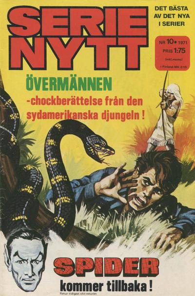 Cover for Serie-nytt [delas?] (Semic, 1970 series) #10/1971