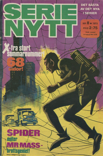 Cover for Serie-nytt [delas?] (Semic, 1970 series) #8/1973