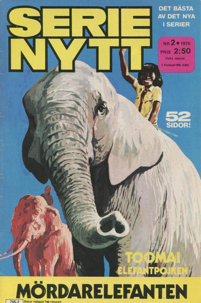 Cover for Serie-nytt [delas?] (Semic, 1970 series) #2/1975