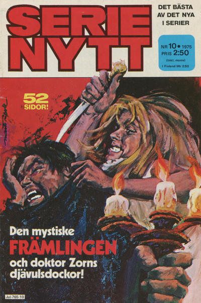 Cover for Serie-nytt [delas?] (Semic, 1970 series) #10/1975