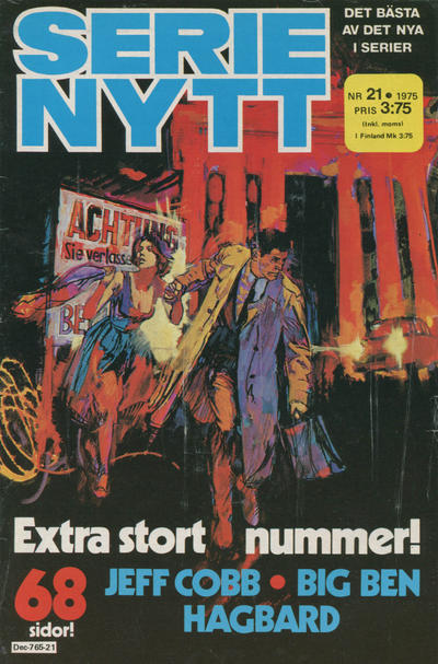 Cover for Serie-nytt [delas?] (Semic, 1970 series) #21/1975