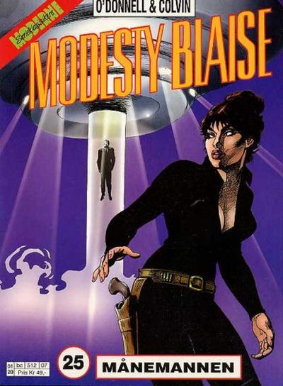 Cover for Modesty Blaise (Hjemmet / Egmont, 1998 series) #25 - Månemannen [Reutsendelse bc 512 10]