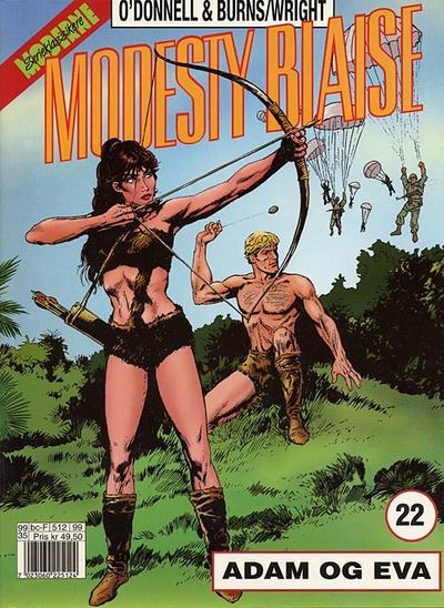 Cover for Modesty Blaise (Hjemmet / Egmont, 1998 series) #22 - Adam og Eva