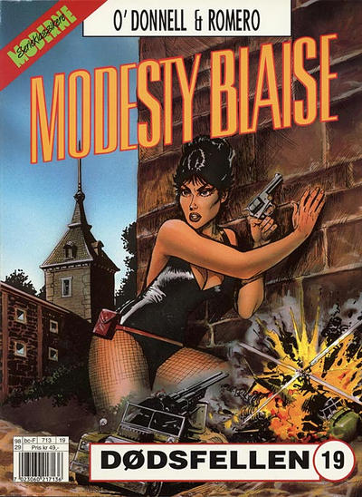 Cover for Modesty Blaise (Hjemmet / Egmont, 1998 series) #19 - Dødsfellen