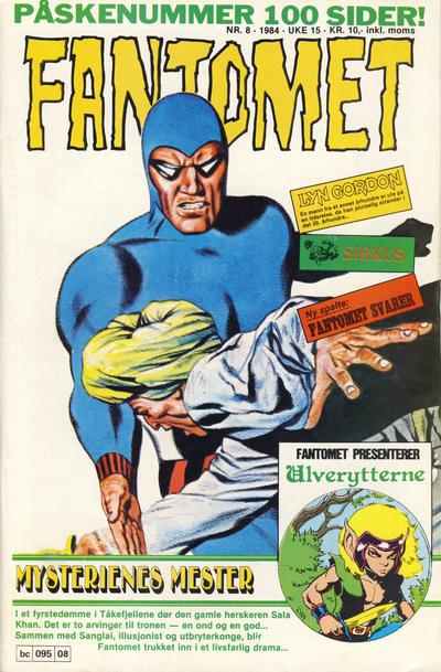 Cover for Fantomet (Semic, 1976 series) #8/1984