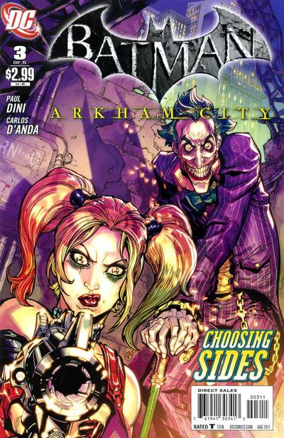 Cover for Batman: Arkham City (DC, 2011 series) #3