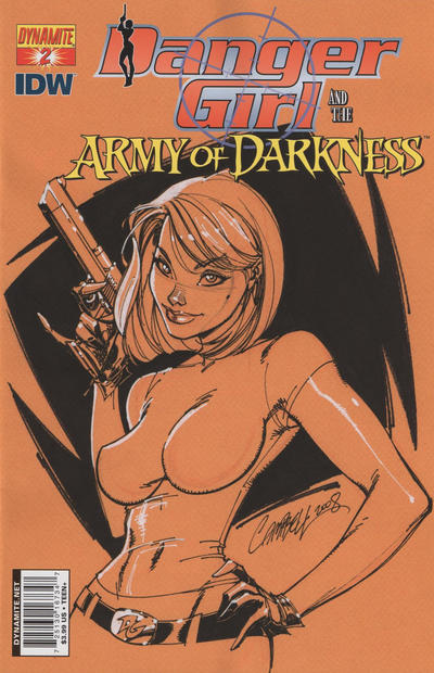 Cover for Danger Girl and the Army of Darkness (Dynamite Entertainment, 2011 series) #2 [Nick Bradshaw Cover]