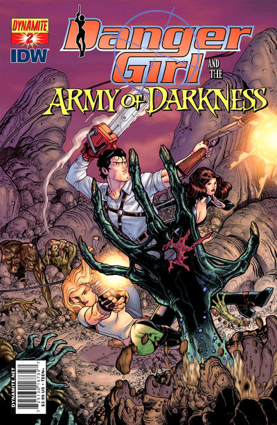 Cover for Danger Girl and the Army of Darkness (Dynamite Entertainment, 2011 series) #2 [Paul Renaud Cover]