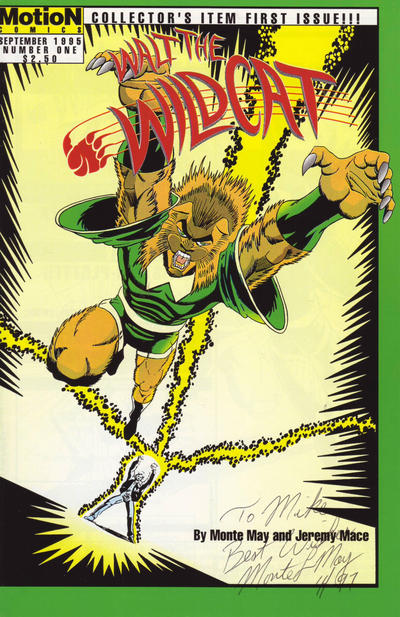 Cover for Walt! The Wildcat! (MotioN Comics, 1995 series) #1