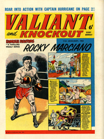 Cover for Valiant and Knockout (IPC, 1963 series) #11 January 1964