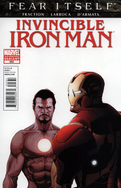 Cover for Invincible Iron Man (Marvel, 2008 series) #503 [Thor Goes Hollywood Variant Edition]